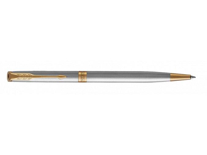 Parker 1502/5231508 Royal Sonnet Stainless Steel GT kuličková tužka Slim  + praktický zápisník FLEMMING ZDARMA