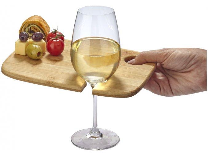 Podnos na víno a předkrmy Miller, wood