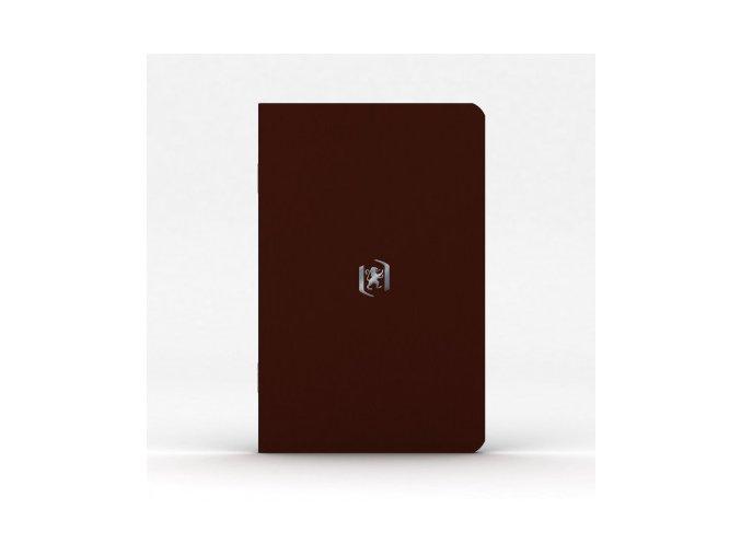 Zápisník Oxford Pocket Notes 9x14cm linkovaný 24 listů, hnědý