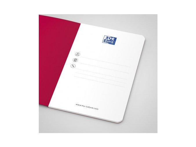Zápisník Oxford Pocket Notes 9x14cm linkovaný 24 listů, červený