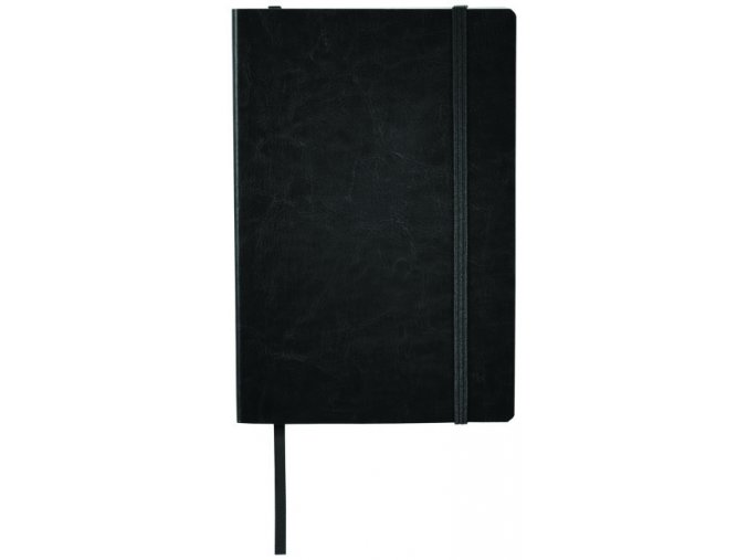 Zápisník z PU kůže A5, černý