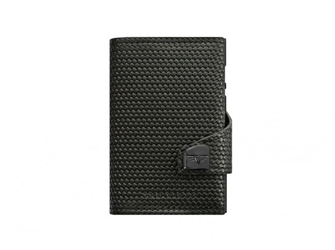 Peněženka CLICK & SLIDE kožená Diagonal Carbon Black