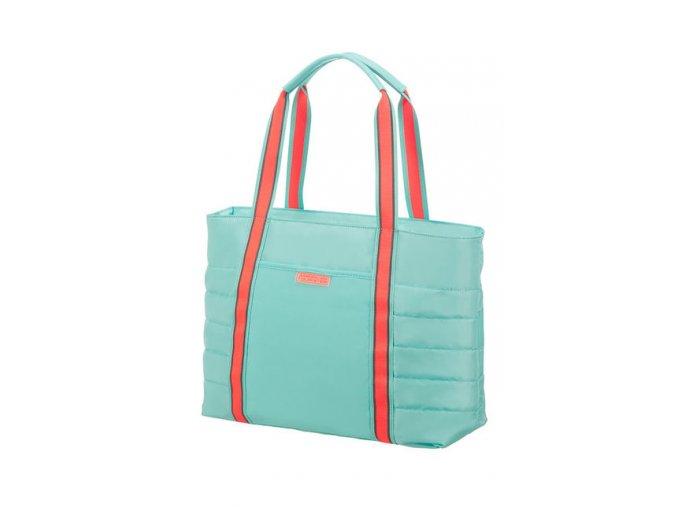 """American Tourister UPTOWN VIBES Nákupní taška 14"""", mint/peach"""