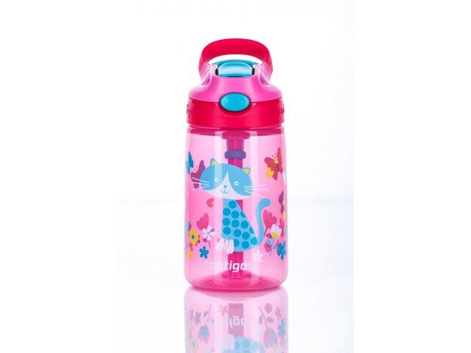 Dětská lahev Contigo Autospout HL James 420 růžová s kočičkou
