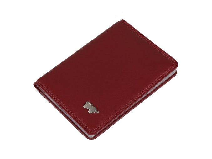 Braun Büffel kožené pouzdro na kreditní karty, červené 90446-051