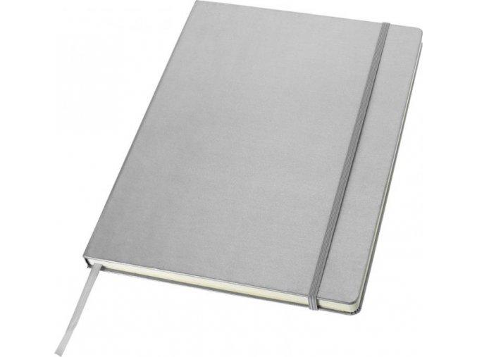 Manažerský zápisník Classic A4, stříbrný 10626303