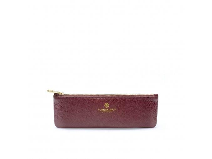 Pouzdro na tužky Tiffany case burgundy, A.g. Spalding & Bros.