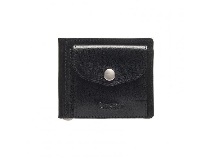 Lagen Pánská kožená peněženka dolarovka black 2017