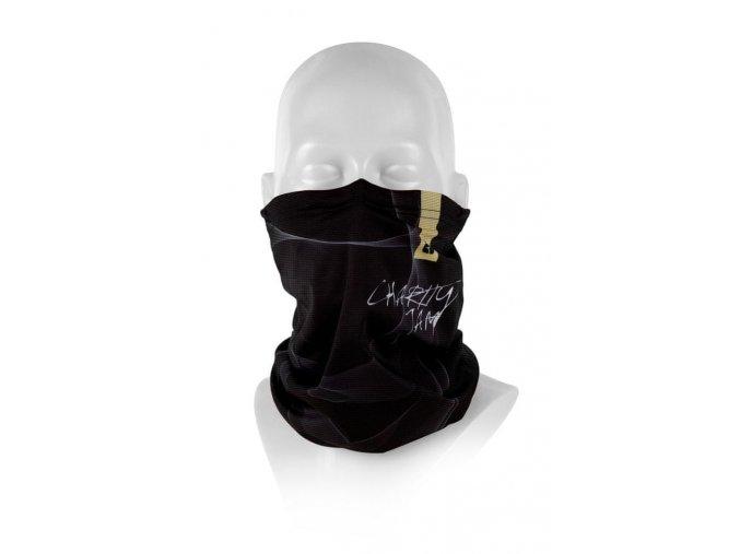 Respilon Nákrčník R-shield Light Charity Jam Black s protivirovou Nano membránou  + kapesní dezinfekce ve spreji