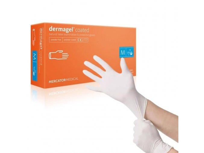 Jednorázové rukavice Mercator Medical nepudrované Dermagel Coated 100 ks, vel. L