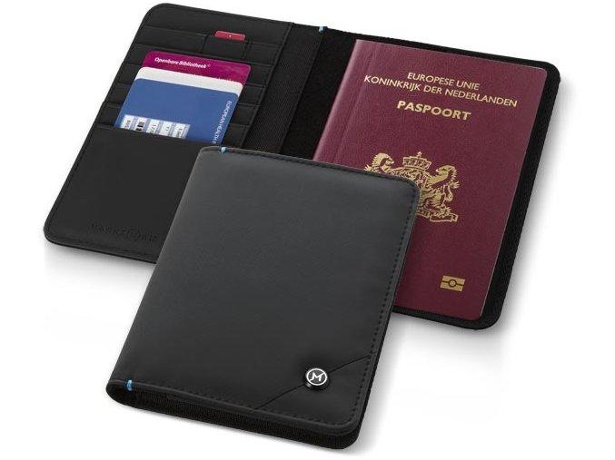 obal Marksman na doklady i cestovní pas - černý