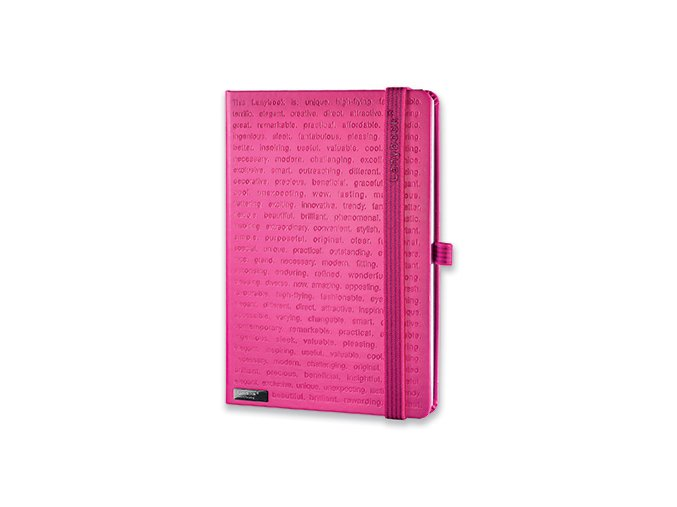 LANYBOOK THE ONE IV poznámkový zápisník s gumičkou 140x205 mm, ružový
