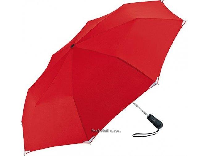 Automatický deštník s LED svítilnou - červený
