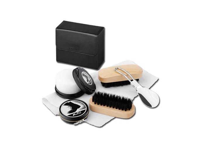 Praktická sada na čistění obuvi 6 v 1 Marilou, SANTINI, černá