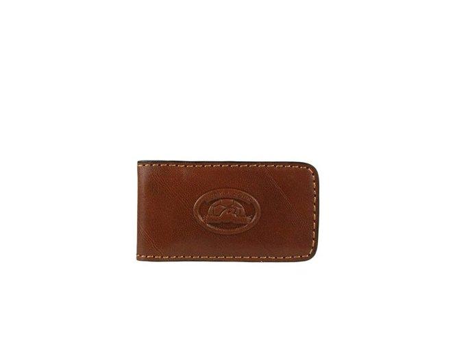 Tony Perotti Kožená spona na bankovky Tony Perotti 1201, sv. hnědá