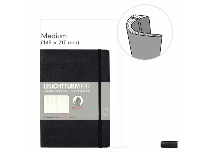 notizbuch medium a5 softcover 121 nummerierte seiten