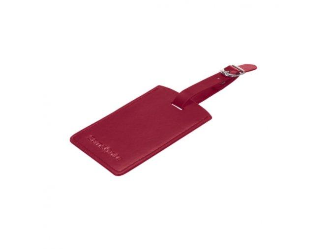 Samsonite jmenovka na kufr U23-205 červená