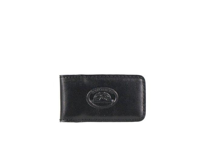 Kožená spona na bankovky Tony Perotti 1201, černá