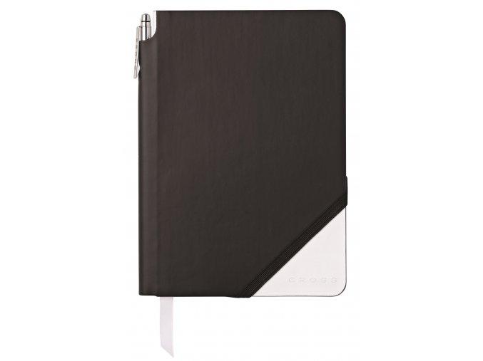 Cross linkovaný zápisník Jot Zone Medium Black/White + kuličkové pero