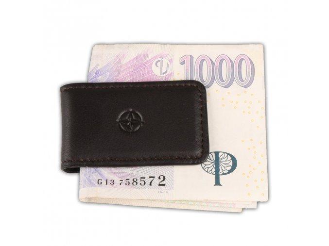 Spona na bankovky Cortina, hnědá
