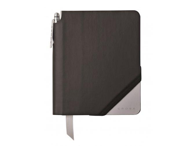 Cross linkovaný zápisník Jot Zone Small Black/Grey + kuličkové pero