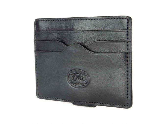 Kožené pouzdro na karty se sponou na bankovky Tony Perotti 2553, černé
