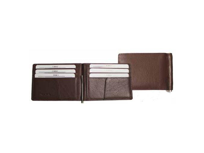 Kožená dolarovka Tony Perotti 5000, tmavě hnědá