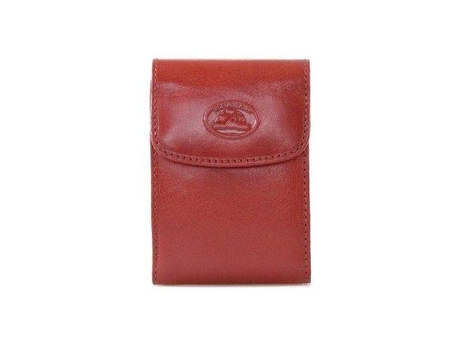 Kožené pouzdro na karty Tony Perotti 1703S Italico, červená