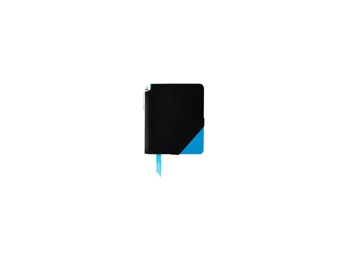 Cross linkovaný zápisník Jot Zone Large Black/Bright Blue + kuličkové pero