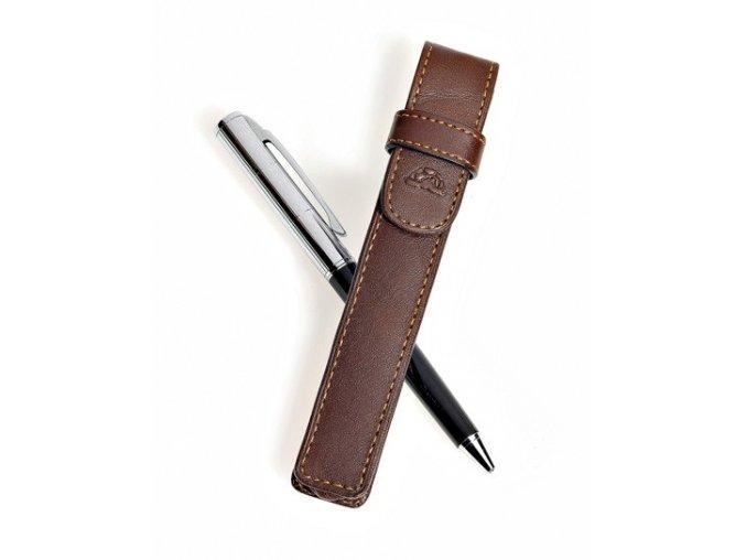 Kožené pouzdro na tužku Tony Perotti 2572-1, tm. hnědé