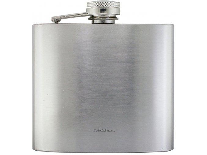 Butylka/likérka s matným stříbrným povrchem,148 ml