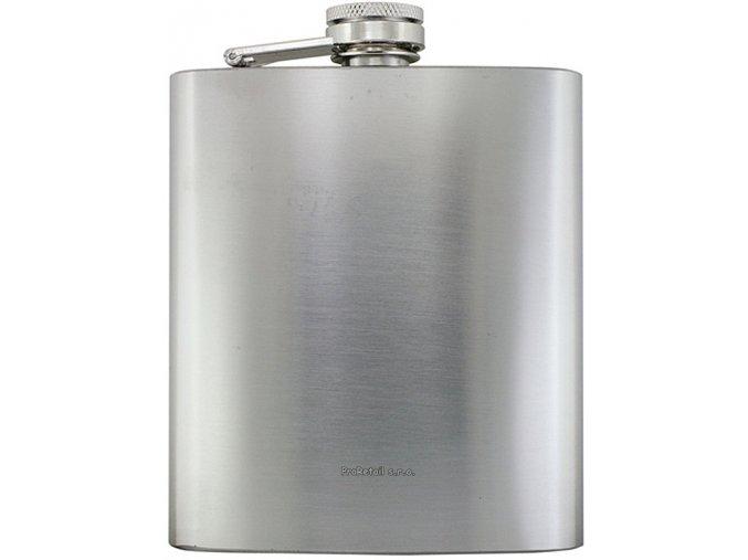 Butylka/likérka s matným stříbrným povrchem, 207ml