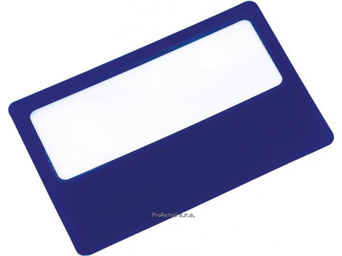 Modrá lupa ve velikosti kreditní karty