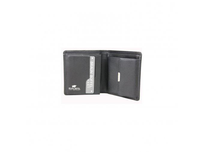 Braun Büffel kožená peněženka pánská, černá 92331