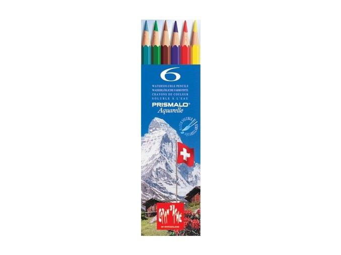 Akvarelové pastelky Caran d'Ache Prismalo, 6 barev