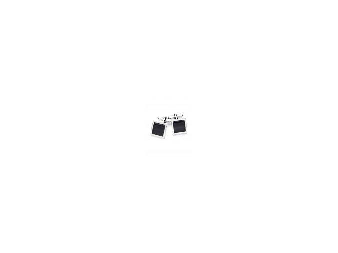Luxusní manžetové knoflíčky Vincenzo Boretti - černý čtverec