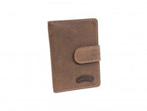 Kožené pouzdro na karty Nivasaža N160-HNT-BR hnědé
