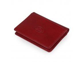 Kožené pouzdro na karty a vizitky Italico P34530 červená