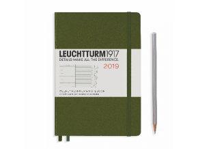 Diář Leuchtturm1917 týdenní 2019 Medium Army