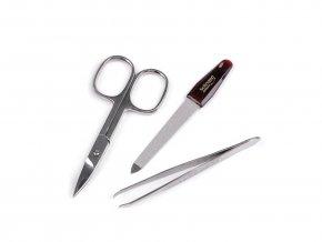 Kapesní manikůra  Solingen 105-86, kožená sada zelená (žíhaná)