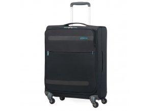 American Tourister, kabinový cestovní kufr Herolite Super Light Spinner 42 l, černý
