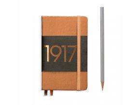 notizbuch pocket a6 dotted hardcover 187 nummerierte seiten kupfer