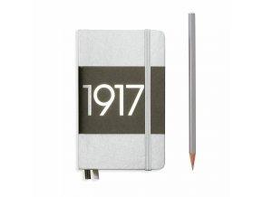 notizbuch pocket a6 dotted hardcover 187 nummerierte seiten silber