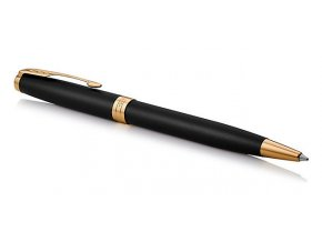 Parker 1502/5231519 Royal Sonnet Matte Black GT kuličkové pero  + NÁHRADNÍ NÁPLŇ ZDARMA M modrá + zápisník FLEMMING ZDARMA
