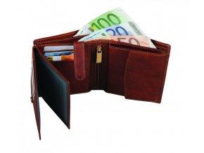 Peněženka Malmo, hnědá