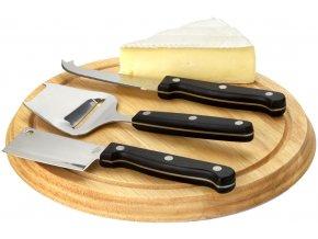 Čtyřdílná dárková sada na sýr, brown