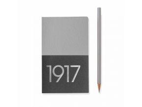 jottbook pocket a6 60 nummerierte seiten blanko silber im doppelpack