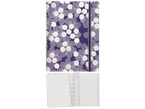 Filofax Notebook Impressions, A5, fialová/bílá