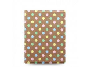Filofax zápisník A5 Pastel Spots