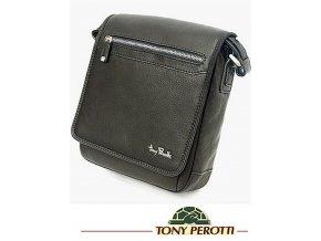 Kožená taška přes rameno Tony Perotti, černá